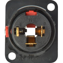 Neutrik NJ3FP6C-B 1/4in TRS Chassis Mount Black and Gold