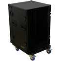 Odyssey FZAR16WBL Black Label 16-Space Amp Rack with Wheels