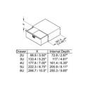 Penn Elcom 3236LK 6RU Lockable Rack Drawer with Latch