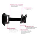 Peerless SA724P SmartMount Articulating Wall Mount for 10-24-Inch Flat Screens