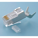 Platinum Tools 106190 RJ45 CAT6A/10G Shielded Connector for Solid Conductors - 100 Pack