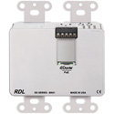 RDL DDS-BN31 Wall-Mounted Bi-Directional Mic/Line Dante Interface 4 x 4