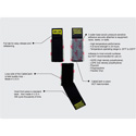 Rip-Tie C-04-050-BK CableCatch 1x4In. Black Surface Mount Hook & Loop Cable Wraps 50 Pk.