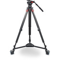 Sachtler System Video 15 Fluid Head (1505) + Tripod Flowtech 100 MS with Mid-Level Spreader and Rubber Feet