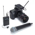Samson SWC88VBH108-K Concert 88 Camera UHF Wireless System w/ Handheld Q8 & Lavalier LM10 (K Chan.) - Li-ion Batt. Incl.