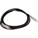 Canare Star-Quad Cable 3.5mm TRS Stereo Male to Male 100 Foot - Black