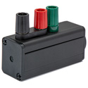 Sescom SES-MKP-23 Tap Adapter Male XLR to 3 Binding Post Line