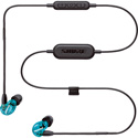 Shure SE215 Special Edition Wireless Sound Isolating Earphones - Bluetooth Enabled Cable - Translucent Blue - Li-Ion
