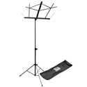 On Stage Foldable Music Stand With Carrying Bag (Black)