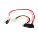 StarTech SAS729PW18 18in SAS 29 Pin to SATA Cable with LP4 Power