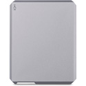 LaCie STHG1000400 Mobile External Hard Drive - USB-C/USB 3.0 - 1TB - Moon Silver