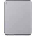 LaCie STHG4000400 Mobile External Hard Drive - USB-C/USB 3.0 - 4TB - Moon Silver