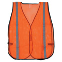 Orange Safety Vest with Reflective Striping- Large