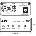 AVE TDT Camera Titler with Time and Date Generator