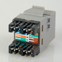 ADC-Commscope 2111475-4 T568A/T568B Category 6 RJ45 Jack Gray