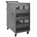 Tripp Lite CSC32AC 32-Device AC Charging Station Cart for Chromebooks and Laptops - Wall-Mount Option - Black