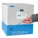 Tripp Lite N222-01K-BL Cat6 Gigabit Bulk Solid PVC Cable - Blue 1000 Feet