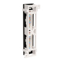 Tripp Lite N250-012 12-Port Cat6/Cat5 Wall-Mount Vertical 110 Patch Panel