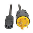 Tripp Lite P011-006 Heavy-Duty Computer Power Cord 15A 14 AWG (IEC-320-C13 to NEMA L6-20P) 6 Feet
