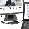 Tripp Lite P136-06N-HDV-4K DisplayPort 1.2 to VGA/DVI/HDMI All-in-One Converter Adapter 4K x 2K HDMI