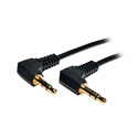 Tripp Lite P312-001-2RA 3.5mm Mini Stereo Audio Cable with two Right Angle plugs (M/M) 1 Foot
