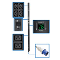 Tripp Lite PDUMV32HV 7.4kW Single-Phase Metered PDU 230V Outlets IEC-309 32A Blue Input 10 Foot Cord 0U Vertical TAA