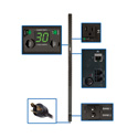 Tripp Lite PDUMVR30NET 2.9kW Single-Phase Switched PDU Outlet Level Metering 120V Outlets L5-30P 10ft Cord