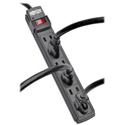 Tripp Lite PS66B Power It 6-Outlet Power Strip 6 Foot Cord Black Housing