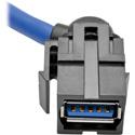 Tripp Lite U324-003-KJ USB 3.0 SuperSpeed Keystone Jack Type-A Extension Cable (M/F) 3 Feet