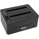 Tripp Lite U339-002 USB 3.0 SuperSpeed to Dual SATA External Hard Drive Docking Station for 2.5 Inch/3.5 Inch HDD
