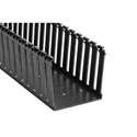 HellermannTyton 181-44020 Non-Adhesive Slotted Wall Duct 4 x 4 x 6 Foot - Black