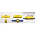 Unitag U-25-100-W 5/8 Inch x 2-1/2 Inch Snap Tag - White