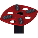 Ultimate Support MS-90-45R 45 Inch Column Studio Monitor Stand - Pair - Red