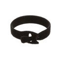VELCRO® Brand 158789 1 Roll of 75 1 Inch x 12 Inch QWIK Tie Die-Cut Straps - Black