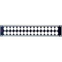 AVP WKM-US216E2-Z-B80 2RU Maxxum Panel Accepts 32 Single D Modules MIS - 2x3 Inch Bars