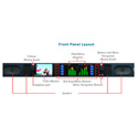 Wohler AMP1-16V-MD 16 Channel Dual Input 3G/HD/SD-SDI Audio With Video Monitor