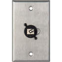 Camplex WPL-1216 1-Gang Stainless Steel Wall Plate w/1 Duplex LC Singlemode Fiber Optic Connector
