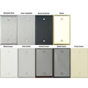 TecNec Stainless Steel Multimedia - Presentation - Multi Format 4 Gang  A/V Wall Plate
