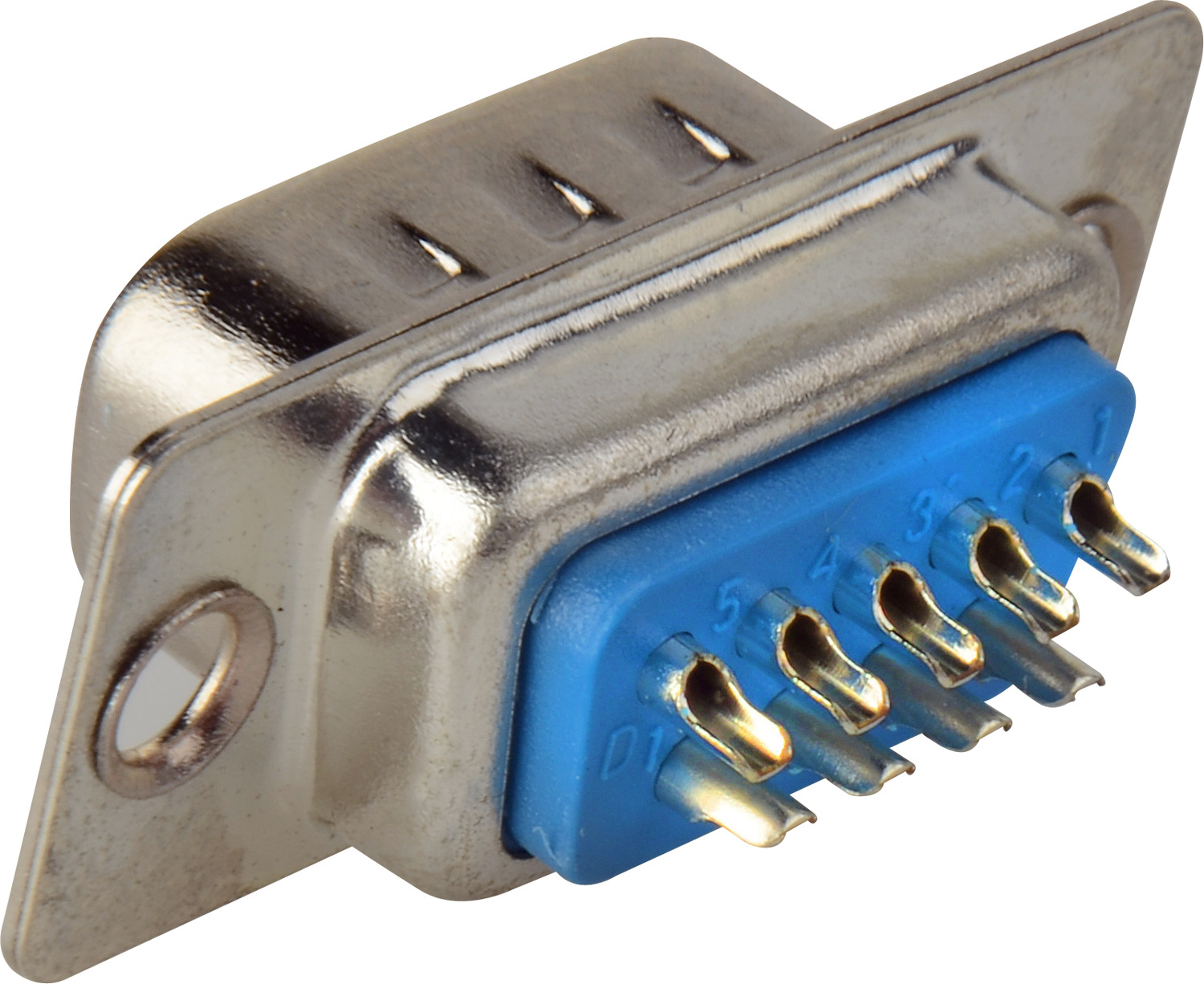 9 Pin D Sub Connector Insert With Rear Solder Points Male