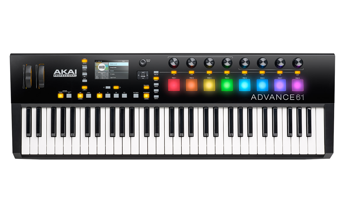 akai professional advance 61 61 key midi keyboard controller. Black Bedroom Furniture Sets. Home Design Ideas
