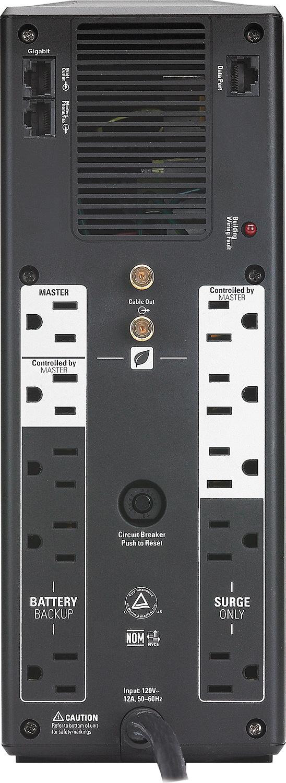 Apc Br1300g Back  1300 Va Input 120v