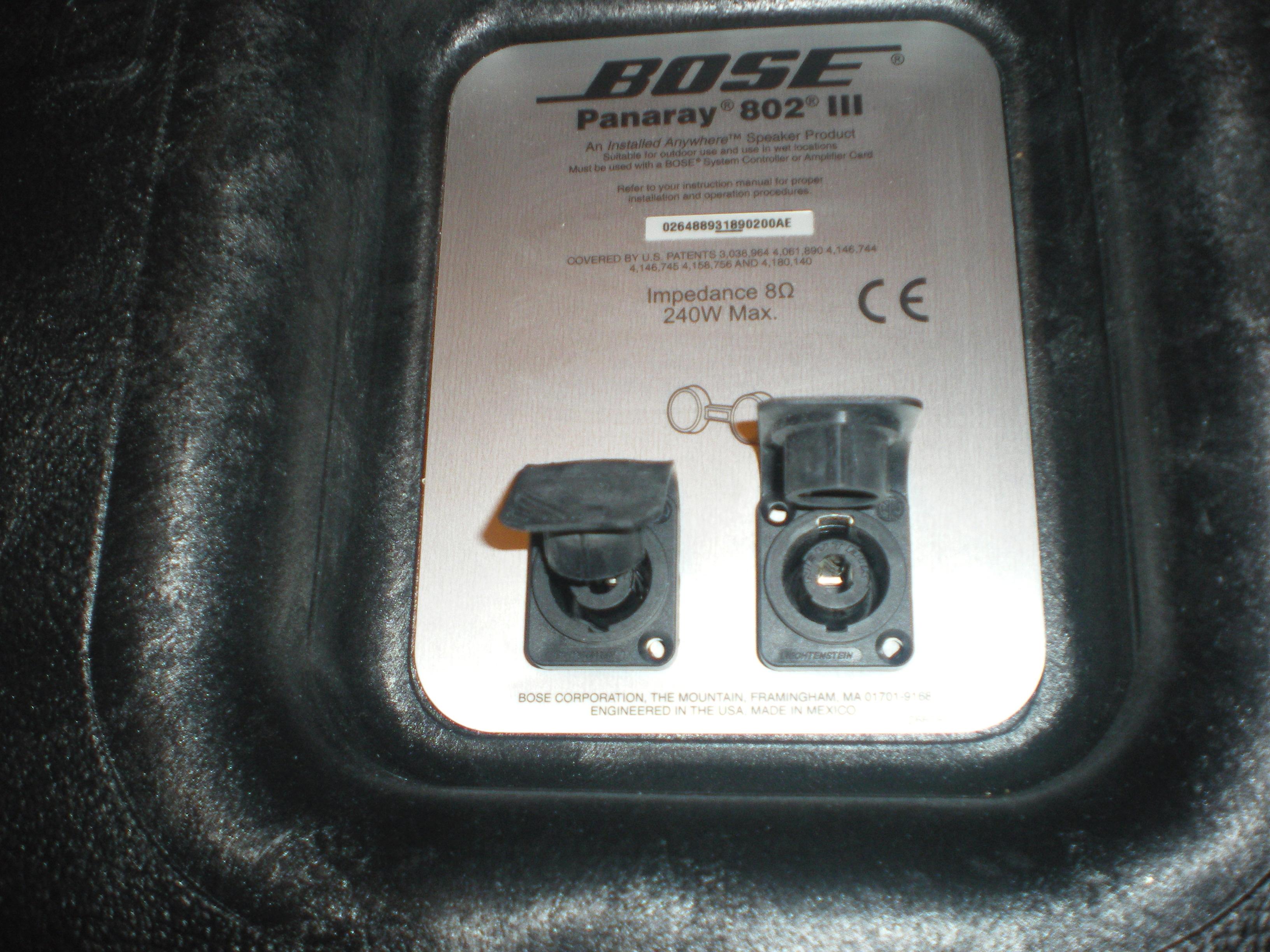 bose 802 iii 240 watt loudspeaker black rh markertek com Bose 802 Speakers Specs bose panaray 802 iii loudspeaker manual
