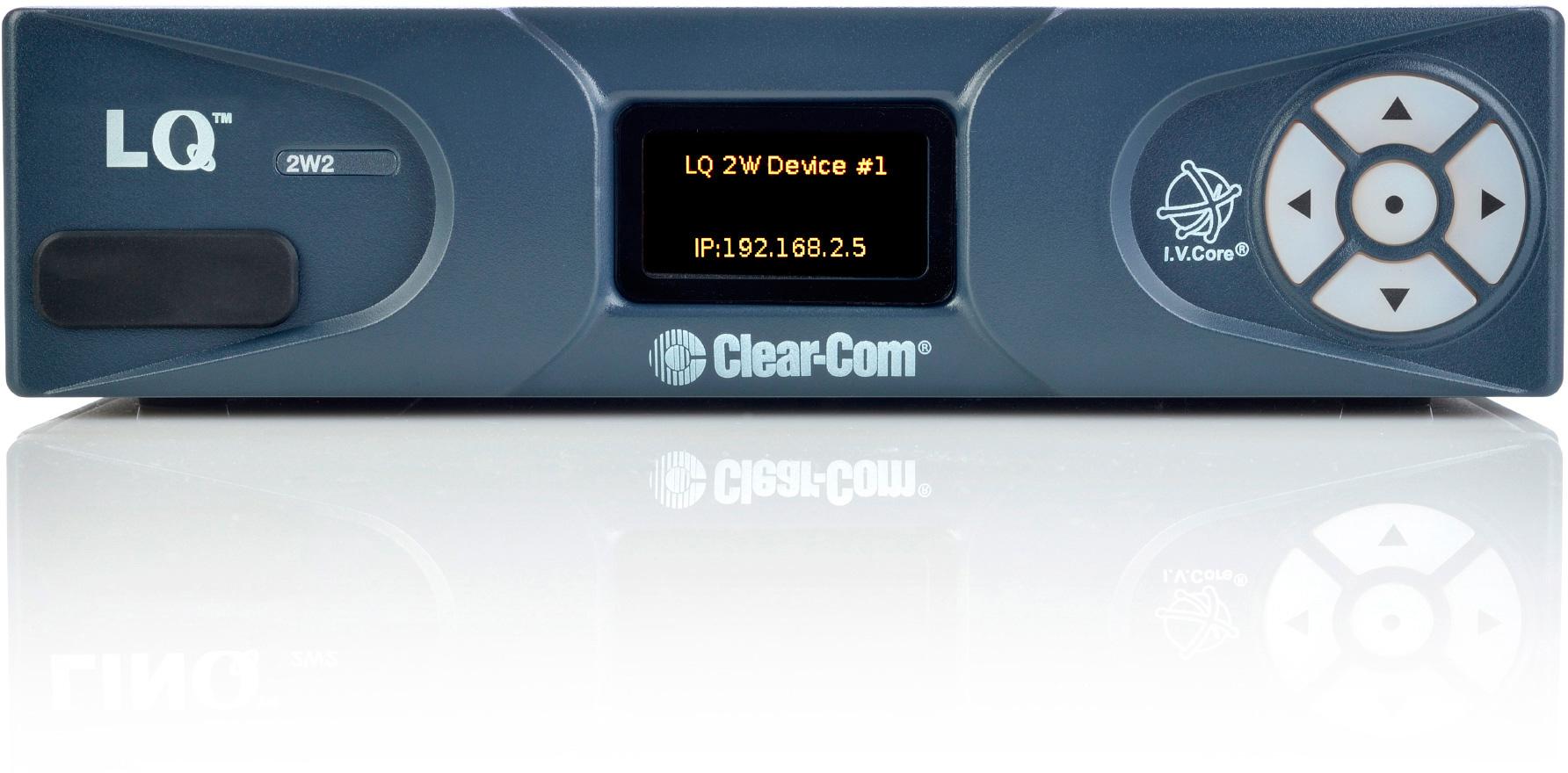 Clear Com Lq 2w2 1 2 Rack Unit 2 Channel Partyline Ip