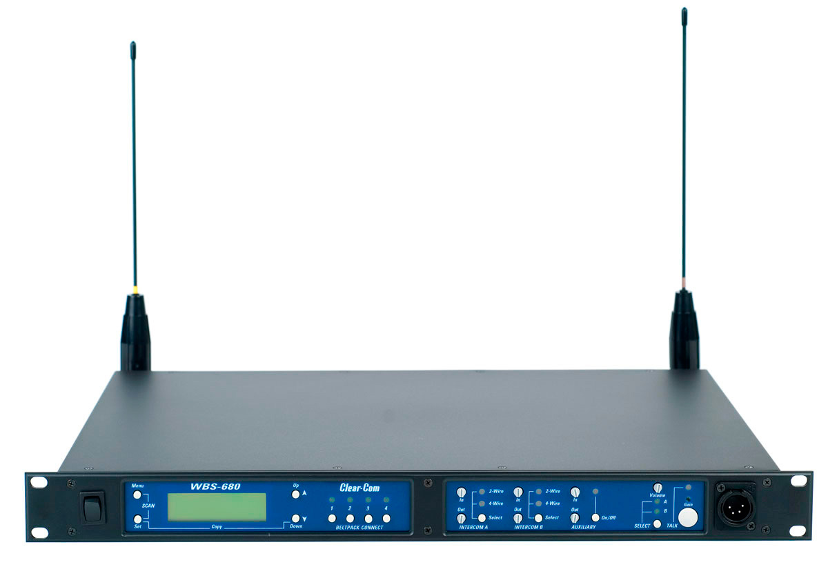 Clear Com Wbs 680 A2 2 Ch Wireless Uhf Base Station Band A2