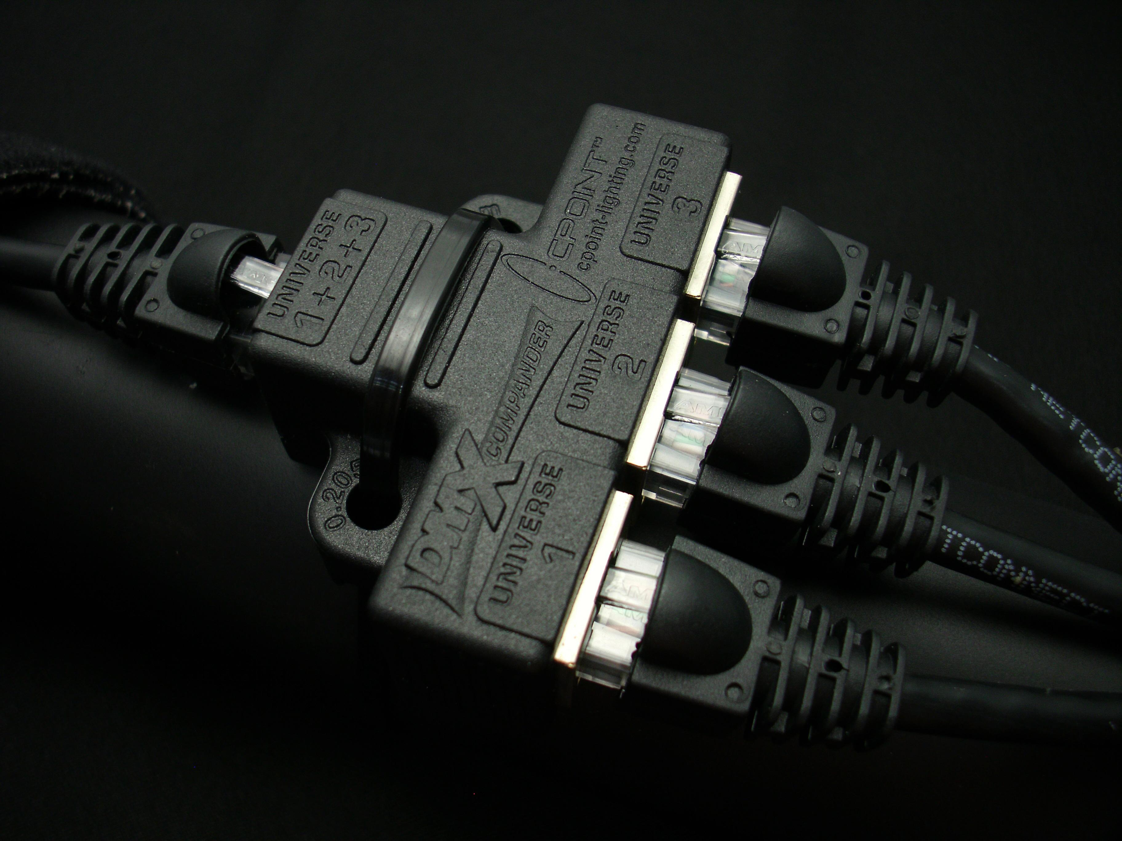 Tecnec Dmxcomp Rj45 Dmx Compander Three Dmx12 Universes Over 1 Cat5 Cat 5 Wiring Diagram On Nti Cable