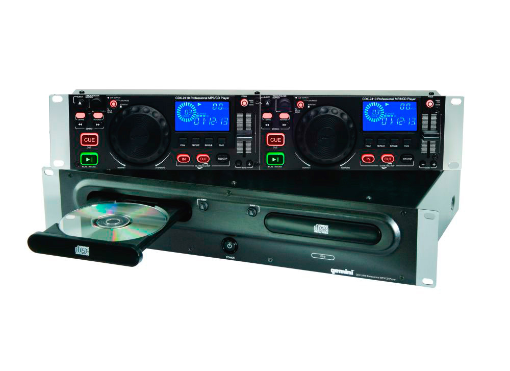 gemini cdx 2250 dual rackmount cd mp3 player. Black Bedroom Furniture Sets. Home Design Ideas