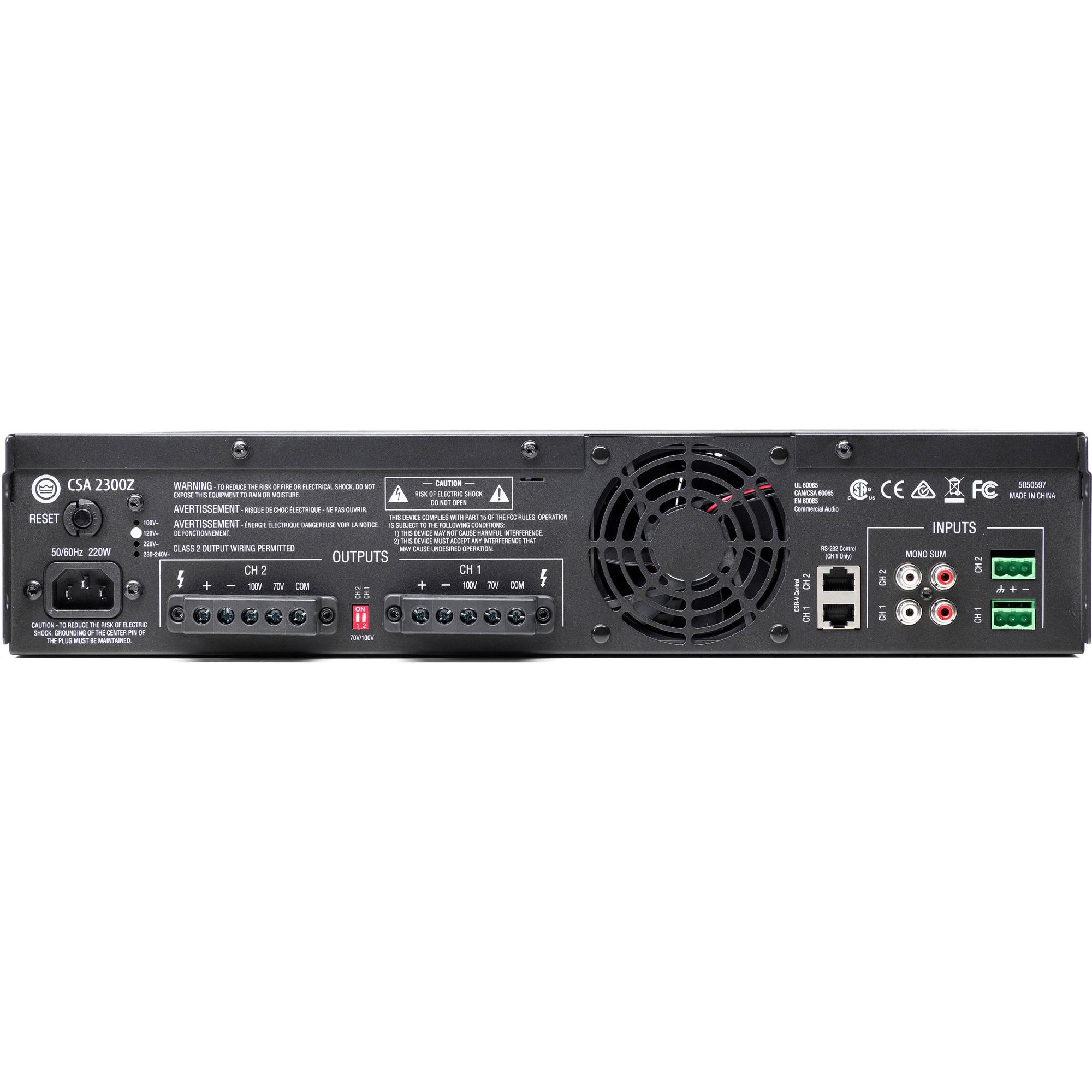Jbl Csa2300z Csa 2300z Dual Channel 300w Amplifier