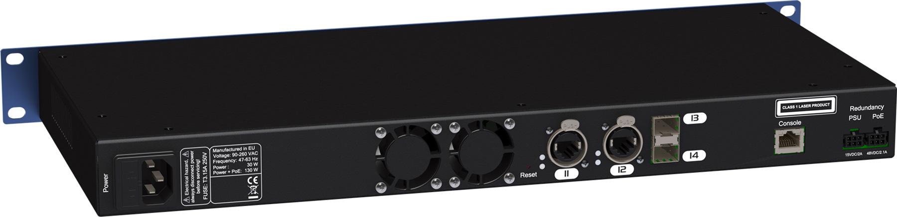 Luminex gigacore 14rpoe rackmount touring 12 port ethercon 2 sfp port poe gigabit ethernet switch - 12 port gigabit poe switch ...