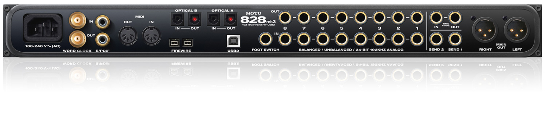 Motu 828mk3 Hybrid Firewire Usb2 Audio Interface W On