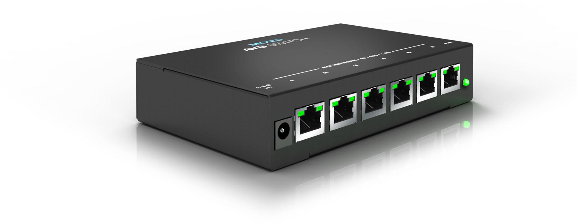Motu Avb Switch Five Port Avb Ethernet Switch